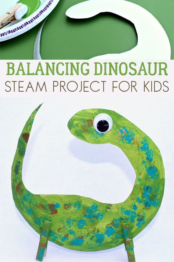 Balancing Dinosaur STEAM Activity for Kids