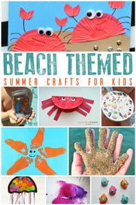 Beach Themed Crafts for Kids perfect for Summer
