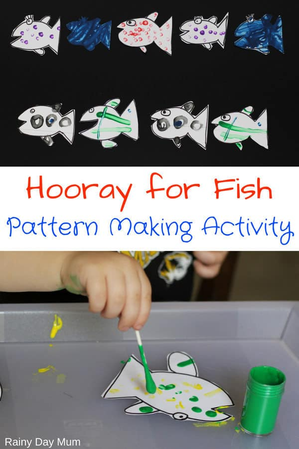 Hooray for Fish Pattern Making Activity