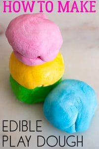 Edible Play Dough Recipe with 2 ingredients