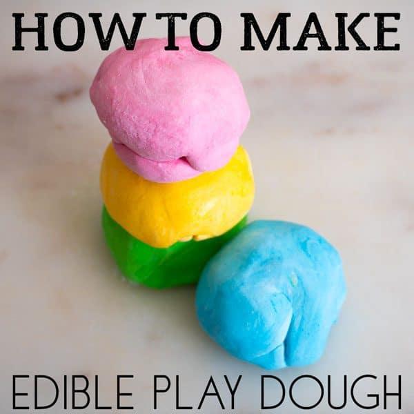 Edible Play Dough Recipe made with marshmallows