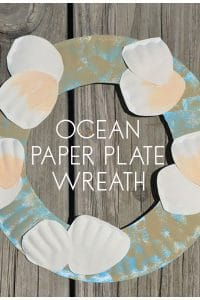 Ocean Paper Plate Wreath to make with kids