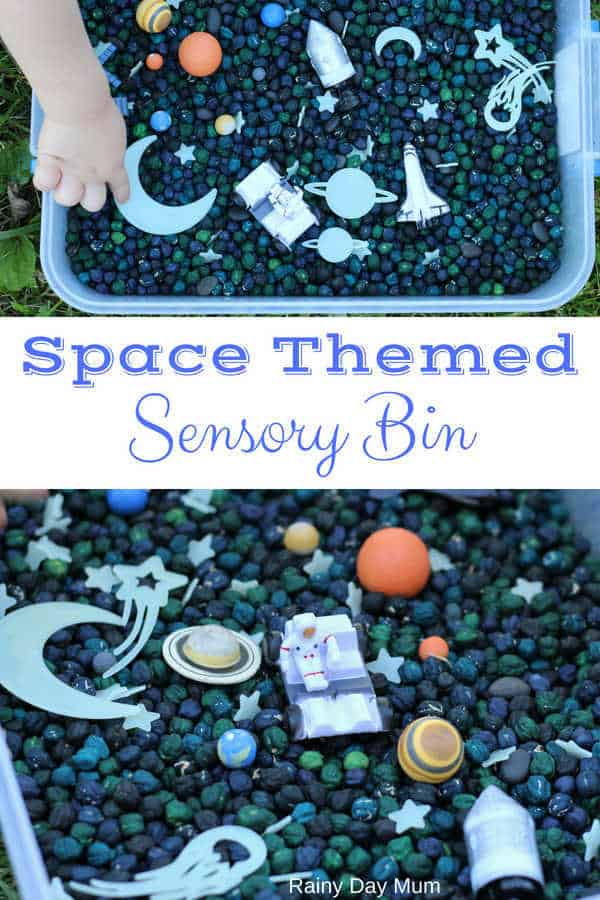 Space Themed Sensory Bin