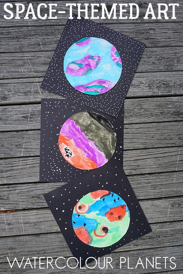 Space-Themed Art Project for Kids ~ Creating Watercolour ...