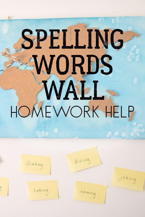 Simple Spelling Words Wall