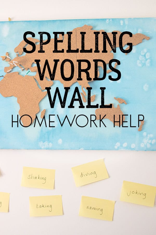 Spelling Words Wall - Homework Help for Parents and Kids