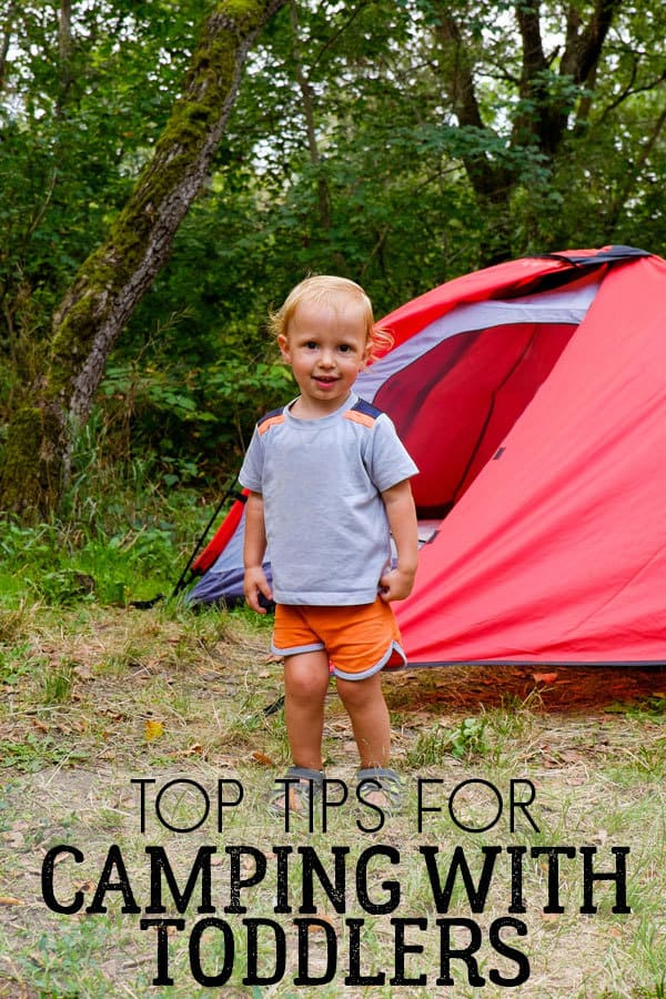 how to camp with toddlers in a tent