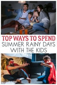 Don't let rain spoil your summer's day, discover these top 5 ways to have fun with the kids even when it's horrid outside.