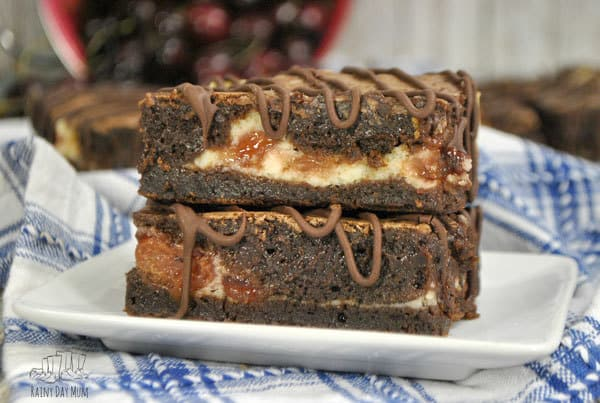 Truly Scrumptious Cherry Pie Cheesecake and Brownie Bars