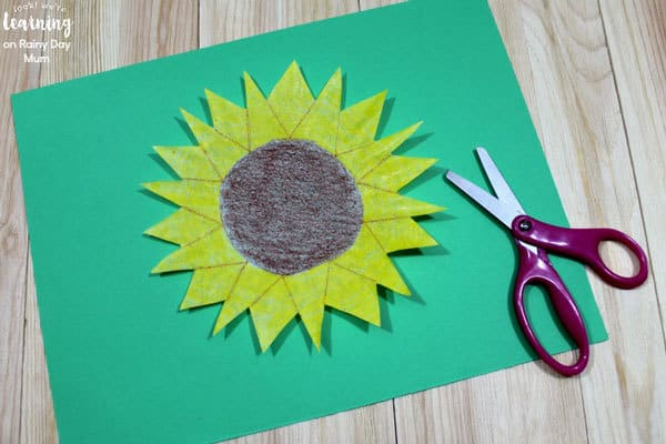 sunflower craft for kids to make for garden week