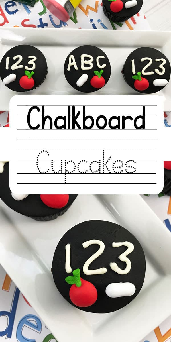 Chalkboard Cupcakes for Kids Back to School Treats
