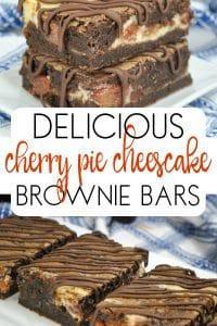 Cherry Pie Cheesecake Brownie Bars