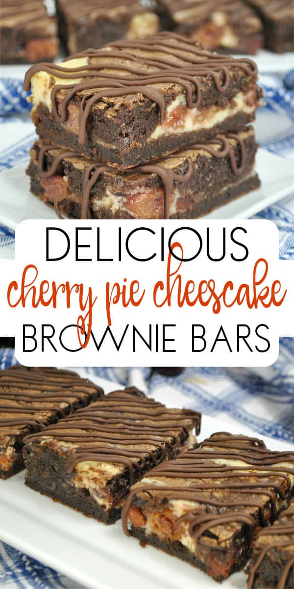 Cherry Pie Cheesecake Brownie Bars
