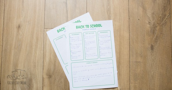 back to school goal setting for families - parents too can set goals for the next academic year