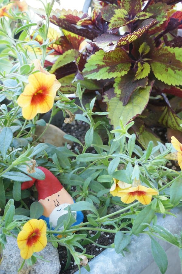 Fun Garden Project for Kids to make air dried clay gnomes