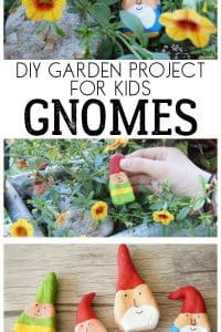 Garden Gnomes Craft Project for Kids to Make these Simple Gnomes to use as stone markers