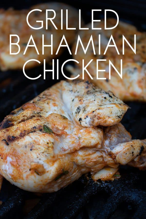 Inspired by the barbecues of the Bahamas this Caribbean grilled chicken recipe is mildly spiced unlike the original from the islands and taste delicious.