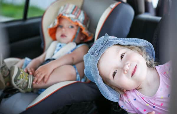 happy toddlers after following this top tips for travel with toddlers on a road trip
