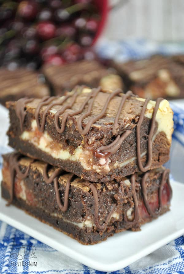 mouthwatering Cherry cheesecake brownie bars