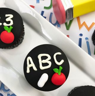 chalkboard cupcakes ideal for school parties and cake sales. Perfect for raising money for the PTA