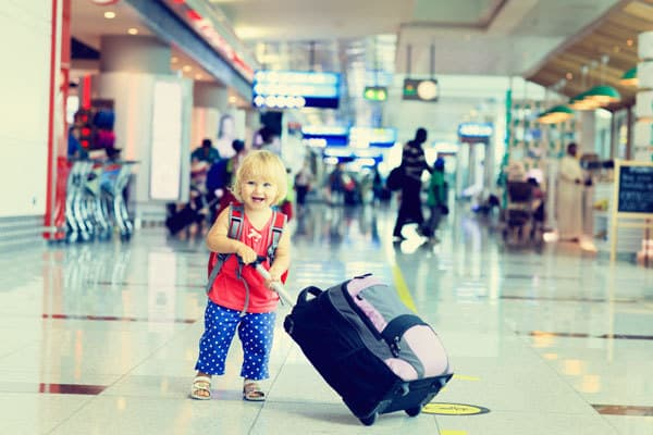 Happy Toddler at Airport