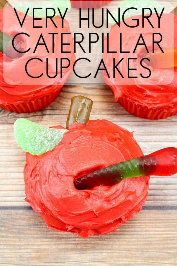 Easy Very Hungry Caterpillar Cupcakes