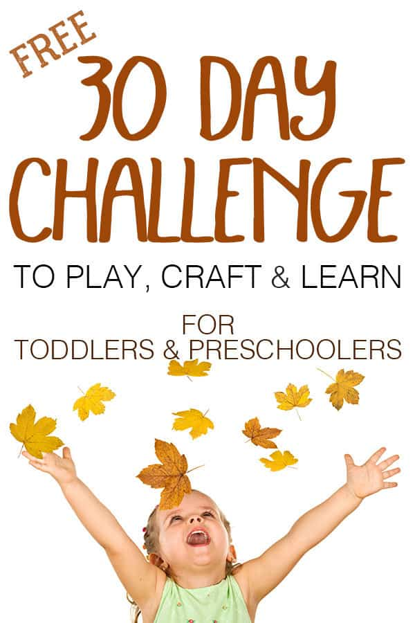 30 Days Hands-on Autumn Play, Craft and Learn Challenge for your Toddler and Preschoolers