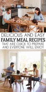 Tried and tested delicious family meal recipes that are easy to cook from quick midweek meals to those with a little more prep. Ideal for family dinners.