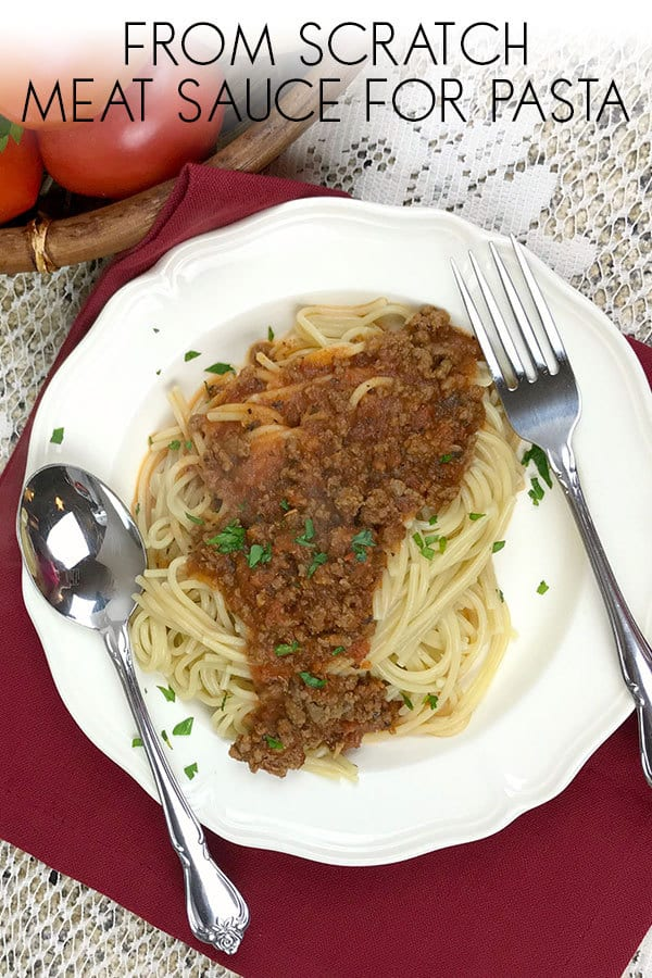 Ditch the jars and make this delicious meat sauce for pasta from scratch in just 30 minutes. Ideal for busy weeknight meals the family will enjoy.