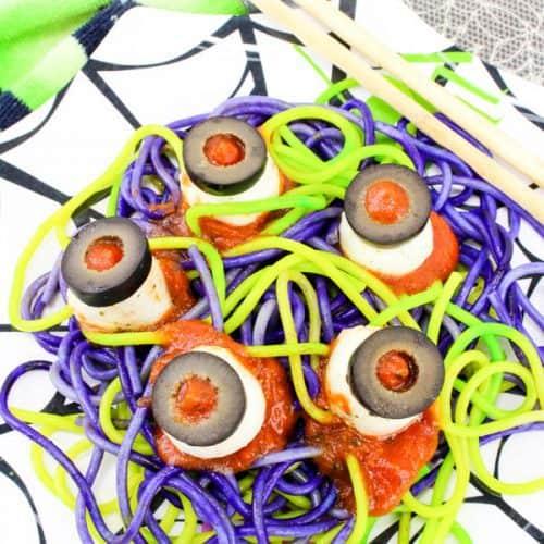 Fun Food for Kids Spooky Spaghetti & Edible Eyeballs