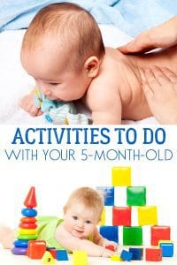 Simple and fun activities for 5-month-old babies that you can do with them. Supporting their development and spending time nurturing and connecting.