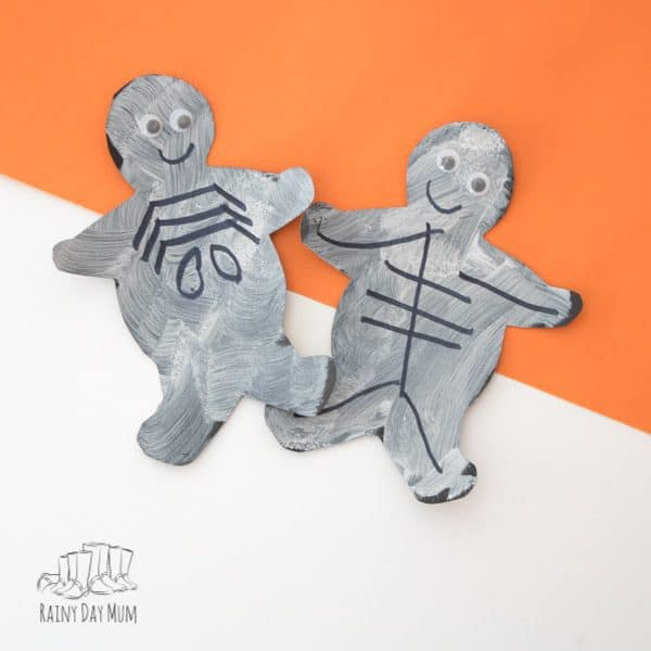 Simple Halloween Skeleton Craft for Toddlers to make