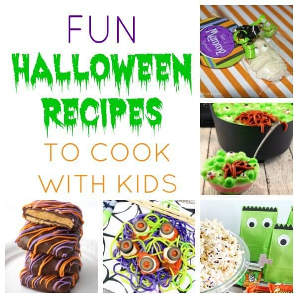Tried and tested easy Halloween Recipes perfect for cooking with your kids. Delicious fun spooky treats, snacks and meal ideas that you can cook together.