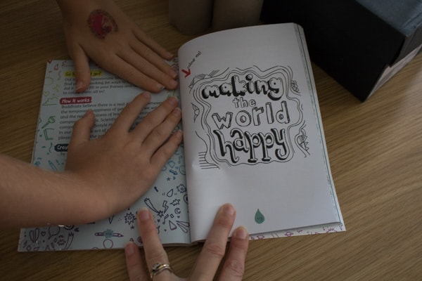 Create your own Happy book the chapter on Making the World Happy