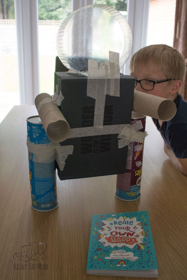 Recycled Materials Robot Activity for Kids