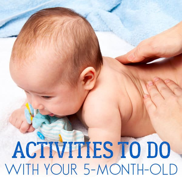 Simple things to do with your 5-month-old baby to connect, spend time together and support their development.