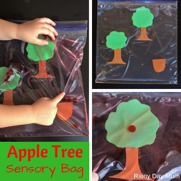 Apple Tree Sensory Play Idea for Toddlers to work on Fine Motor Skills and Counting
