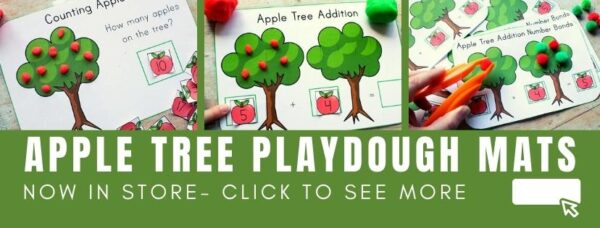 image for apple playdough mats on Rainy Day Mum