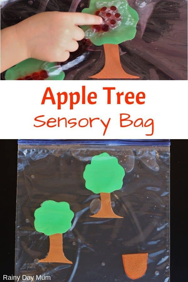 Simple Apple Tree Sensory Bag for Toddlers and Preschoolers