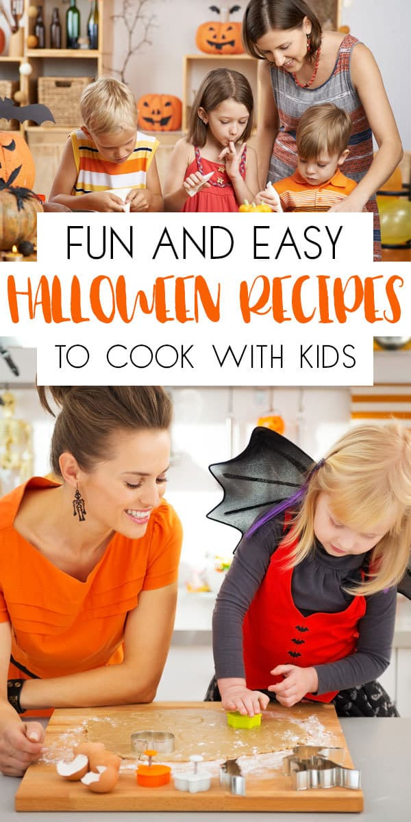 Fun Halloween Recipes to Cook with Kids. Easy to follow recipes instructions that you and the kids will enjoy cooking together.