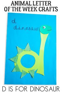 D is for dinosaur letter of the week animal craft for toddlers and preschoolers