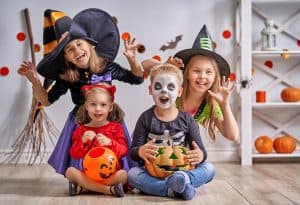 Make Halloween fun and not so scary, involve siblings and have a party with dressing up but no monsters and scary witches laughing.