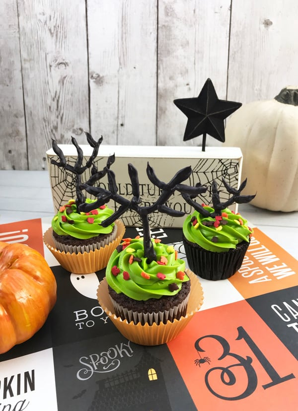 Tree Cupcakes for Halloween Easy to make following our step by step guide and tips for cooking with kids
