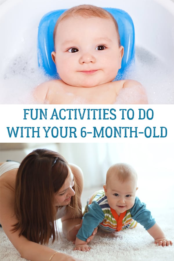 Fun and simple activities and ideas to do with your 6-month-old baby to bond and have fun together.