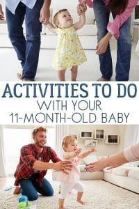 Activities to do with your 11 month old baby