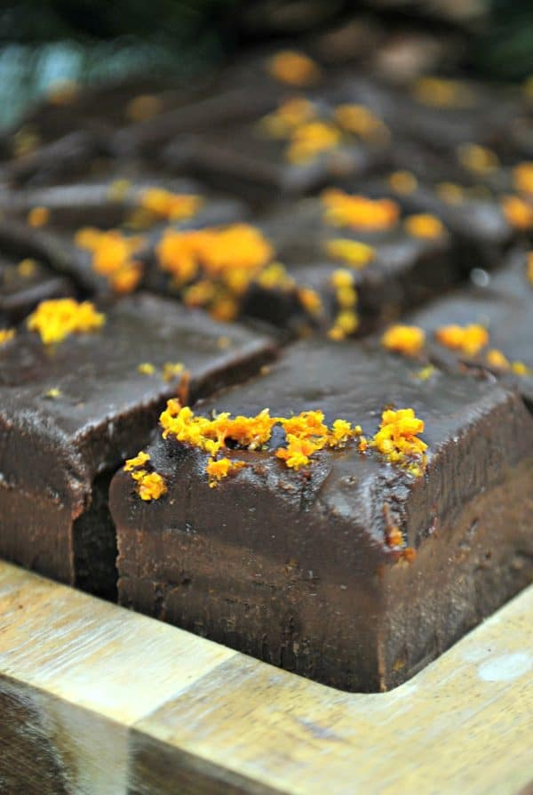 Better than Terry's Chocolate Orange homemade Fudge to eat at Christmas Time