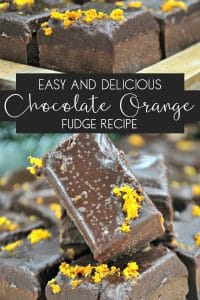 Delicious recipe for orange and chocolate fudge that kids or you can make for Christmas gifts and treats