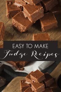 Easy to make fudge recipes that even kids can cook