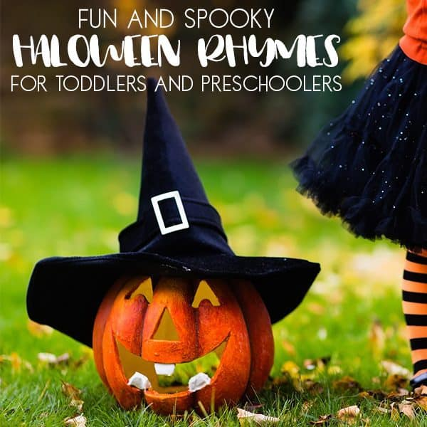 spooky halloween rhymes for toddlers and preschoolers