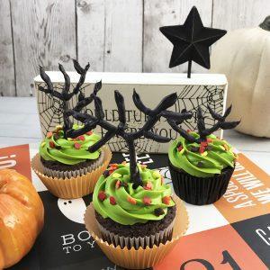 Easy Haunted Tree Halloween Cupcakes